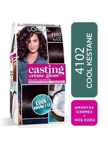 L'Oréal Paris L'Oréal Paris Casting Crème Gloss Saç Boyası - 4102 Cool Kestane Kahve